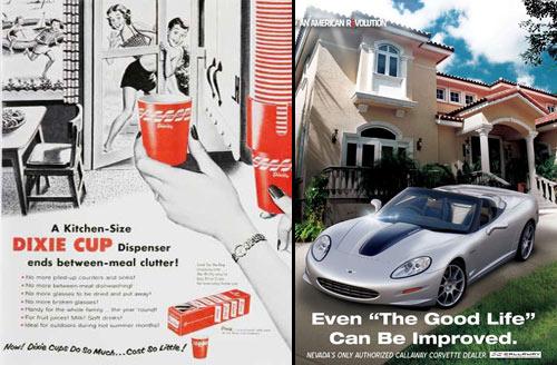 Magazine Ads - Fifties Versus Today