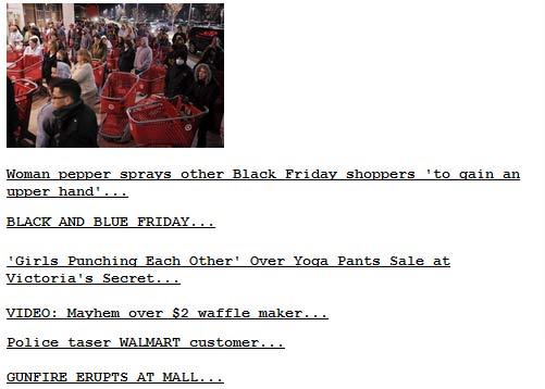 Black Friday Mayhem 2011
