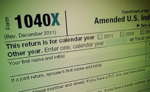 Amend Tax Return 1040x