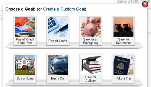 Mint.com Goals Feature