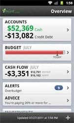 mint app screen
