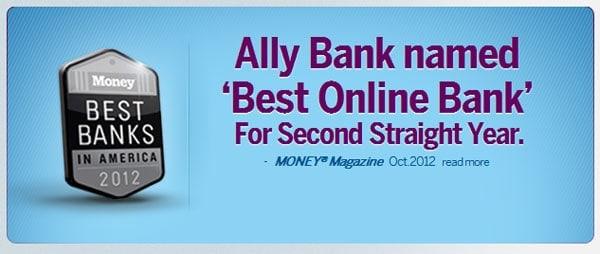Ally Bank best online bank