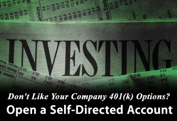 company 401k versus self directed investing