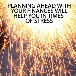 planning ahead for stressful times