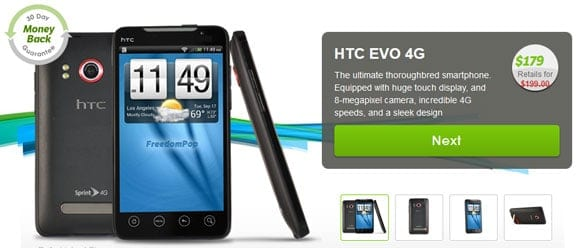HTC EVO 4G Phone from FreedomPop