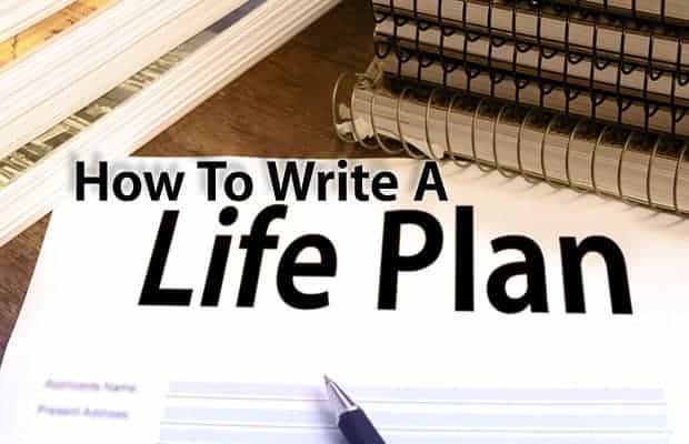 how to write a life plan