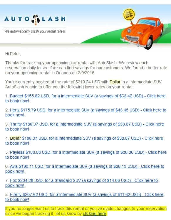 autoslash car rental savings