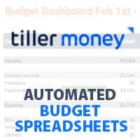Tiller Money Review: Automated Budget Spreadsheets