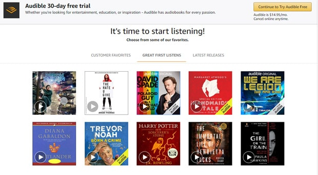 Read And Listen Free Books Online - Audible